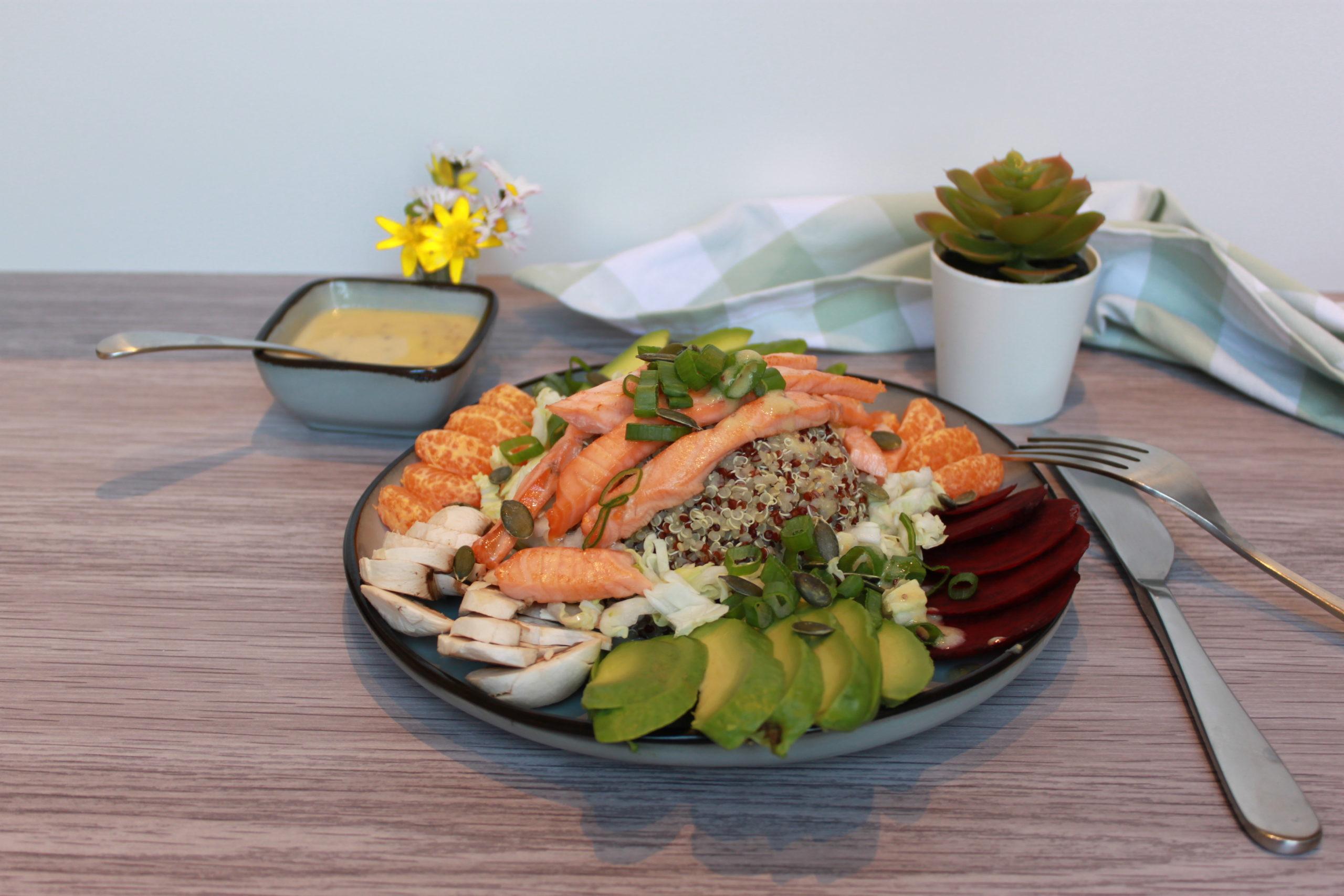 SuperBowl quinoa saumon snacké